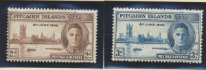 Pitcairn Islands Stamps Scott #9 To 10, Mint Never Hinged - Free U.S. Shippin...