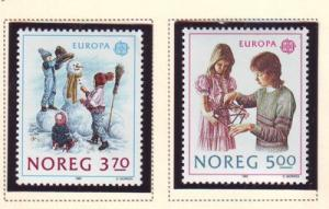 Norway Sc 942-3 1989 Europa Child Games stamps mint NH