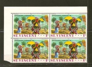 St Vincent Kingston Carnival 1976 Block of 4 MNH