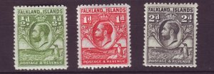 J24538 JLstamps 1929-31 falkland islands mh #54-6 king/Penguins