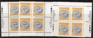 Canada - 1987 25c Artifact MS Imprint Blocks mint #1080 VF-NH Cat. $15.00