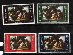 St Lucia-Sc#324-7-unused NH set-Christmas-Paintings-1972-please note there is a