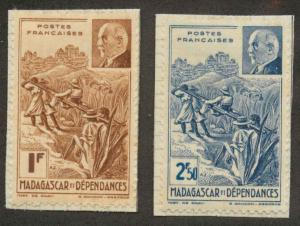 Madagascar 210A-B Mint VF on paper