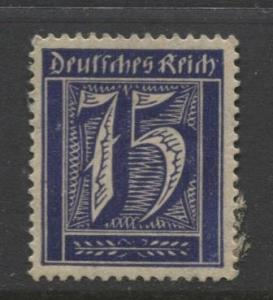 GERMANY. -Scott 170- Definitives -1921- MH - Wmk 126 - Single 75m Stamp