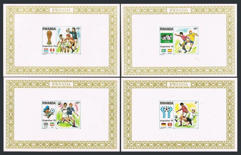 Rwanda 879-884 deluxe,MNH.Mi A944-A951 deluxe. World Soccer Cup Argentina-1978