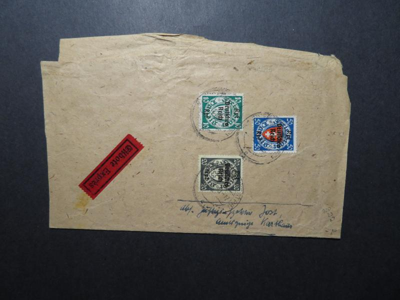 Germany 1940 Express Partial Cover or Wrapper / Light Creasing - Z12200