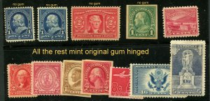 US Unused found in a cigar box 12 Stamps total ⭐⭐⭐⭐
