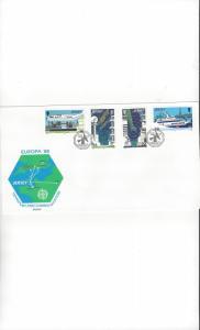Jersey 452-5 EUROPA 88, FDC Jersey Post Office