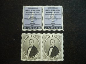 Stamps - Cuba - Scott#608-609, Mint Hinged Set of 2 Stamps in Pairs