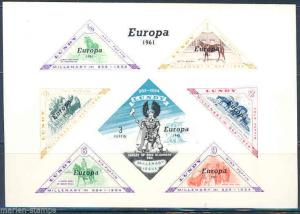 EUROPA 1961 EUROPA  LUNDY MILENARY  SOUVENIR SHEET MINT NH