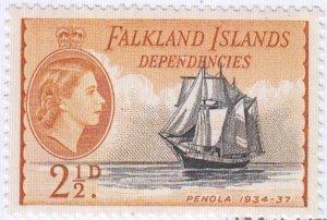 Falkland Islands Dependencies, Sc 1L23, MNH, 1954, Ships