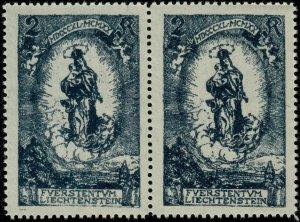 LIECHTENSTEIN - 1920 Mi.42 pair with white letters on the left stamp - Mint**