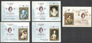 G0845 CHAD ART PAINTINGS !!! RARE OVERPRINT SCOUTING BADEN-POWELL 5BL MNH