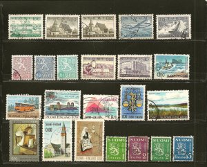 Finland Collection of 23 Different Older Stamps Used