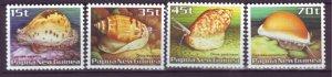 J21854 Jlstamp 1986 png set mnh #636-9 conch shells