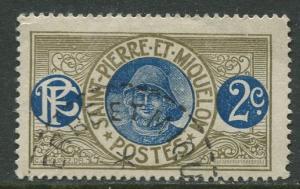 St Pierre et Miquelon.-Scott 80 - Fisherman -1909 - FU - Single 2c Stamp