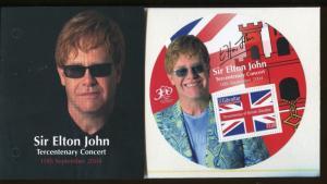 SIR ELTON JOHN Tercentenary Concert CIRCULAR Mini Sheet #964j MNH Gibraltar E16