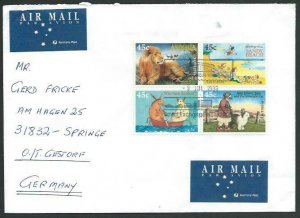 AUSTRALIA 1996 cover to Germany - nice franking - Sydney pictorial pmk.....53456