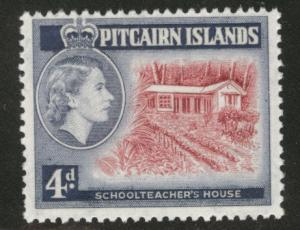 Pitcairn Islands Scott 31 MNH** 1958 corrected stamp CV$5.50