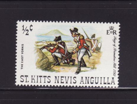 St Kitts-Nevis 245 MH Military, Soldiers, East Yorks (E)