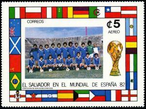 HERRICKSTAMP SALVADOR Sc.# C523 Soccer (Scarce) S/S