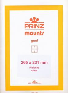 Prinz Scott Stamp Mount 231/265 CLEAR Background Pack of 5