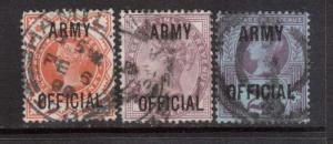 Great Britain #O54 - #O56 VF Used