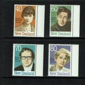 New Zealand: 1989  New Zealand Authors,  MNH set