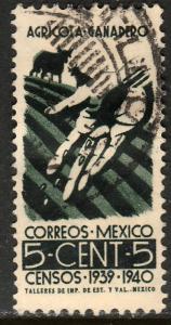MEXICO 752, 5c Census, 1940. Used. F-VF. (324)
