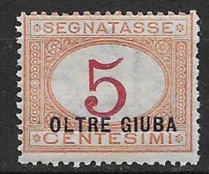1925 Oltre Giuba J1 Postage Due 5c MH SCV$24.00