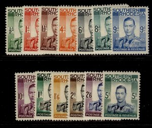SOUTHERN RHODESIA SG40-52, complete set, M MINT. Cat £85.