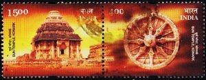 India. 2001 Pair S.G.2042/2043 Fine Used