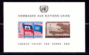 Haiti C135a MNH 1958 Imperf S/S    (ap2770)