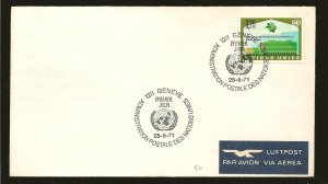 United Nations Geneva 18 UPU 1971 First Day Cover Used