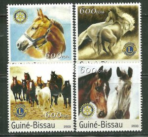 Guinea-Bissau MNH Set Of Horses 2003