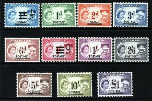 NYASALAND QE II 1963 The Surcharged Revenues Set SG 188 to SG 198 MINT