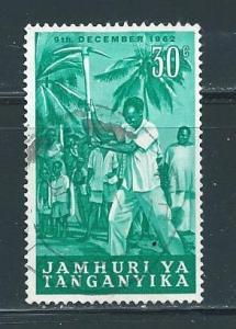 Tanganyika 57 30c President Nyerere single Used