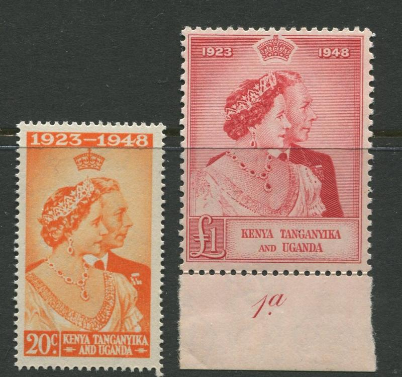 KUT - Scott 92-93 - Silver Wedding Issue -1948 -MNH-Set of 2 Stamps