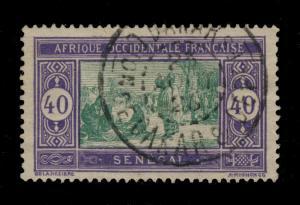 SÉNÉGAL - 1926 - CAD DOUBLE CERCLE DAKAR / Cion de DAKAR et DEPces SUR N°63