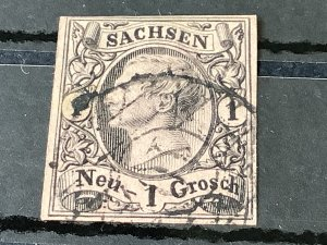 Saxony 1855 Grid Number 10  for Annaberg  Cancel Stamp 57177