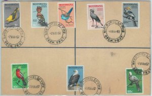 82276 - BRITISH BECHUANALAND - Bird stamps on POSTAL STATIONERY COVER 1964