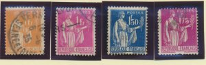 France Stamps Scott #264//283, 1932-9 Peace w/ Olive Branch, Used, 13 Different