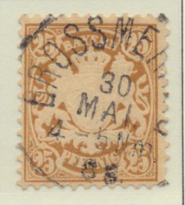 Bavaria (German State) Stamp Scott #52, Used - Free U.S. Shipping, Free World...