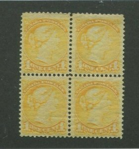 1870 Canada Postage Stamp #35 Mint Never Hinged F/VF Block of 4