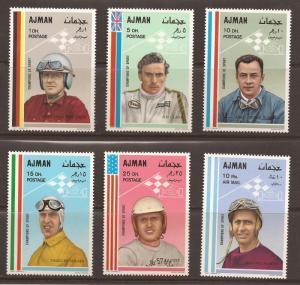 Ajman  Mi # 369- 74  Mint  N H