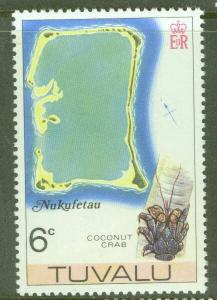 TUVALU Scott 26 MNH** Map of Nukufetau atol