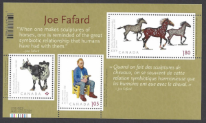 Canada #2523 MNH ss, sculptures by Joe Fafard, issued 2012