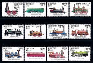 [61488] Bhutan 1990  Railway Train Eisenbahn Chermin De Fer  MNH