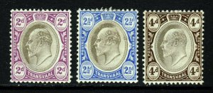 TRANSVAAL King Edward VII 1904 Wmk Multiple Crown CA Group SG 262 to SG 265 MINT