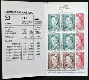Greenland MNH stamp booklet No.2 Scott 217 a, b, 224 signed Czeslaw Slania